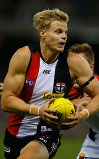 Nick Riewoldt was outstanding in leading the Saints to victory over the Demons