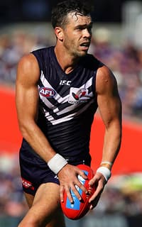 Ryan Crowley did an impressive job on Bombers skipper Jobe Watson