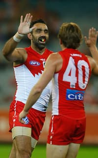 Adam Goodes was welcomed back with a solid Swans win
