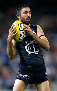 Kade Simpson starred in Carlton's five-point win on Sunday