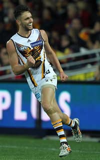 Jack Gunston was in fine form against his old side in Hawthorn's win