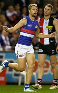 Jake Stringer produced an outstanding display to help the Bulldogs beat the Saints