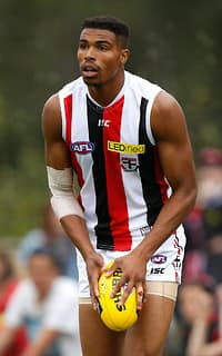 US recruit Jason Holmes gave Saints fans heart with the first goal of the game