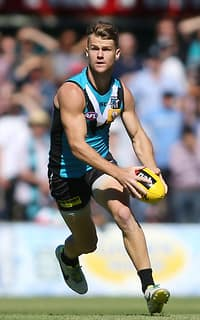 Robbie Gray of the Power during the 2015 NAB Challenge Week 2 match between Port Adelaide Power and the West Coast Eagles at Norwood Oval, Adelaide on March 08, 2015. (Photo: AFL Media)
