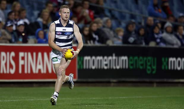 Sam Blease in action for the Cats during the NAB Challenge