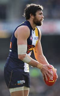 Josh Kennedy kicked three goals in a strong display against Essendon