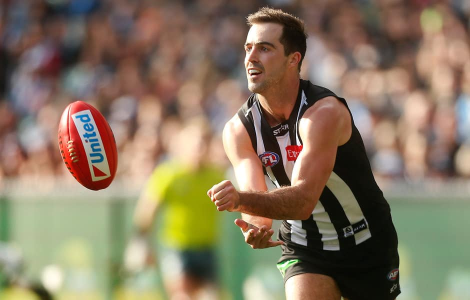 Collingwood midfielder Steele Sidebottom has been offered a two-game suspension for his hit on Dan Hannebery - ${keywords}
