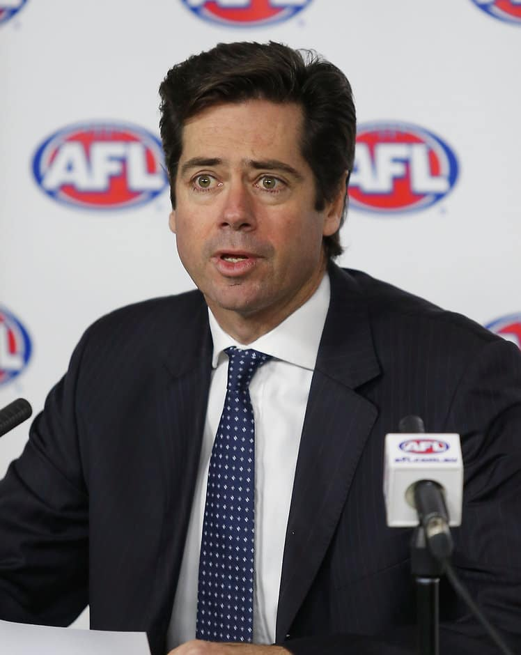AFL CEO Gillon McLachlan addresses the media on Friday - ${keywords}
