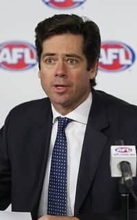 AFL 2015 Media - Gillon McLachlan addresses media on Phil Walsh passing