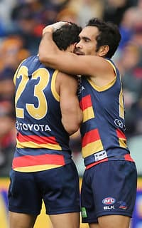 Charlie Cameron and Eddie Betts each kicked three goals in the win over Gold Coast