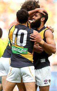 Bachar Houli kicked two goals in the Tigers' big win over Collingwood
