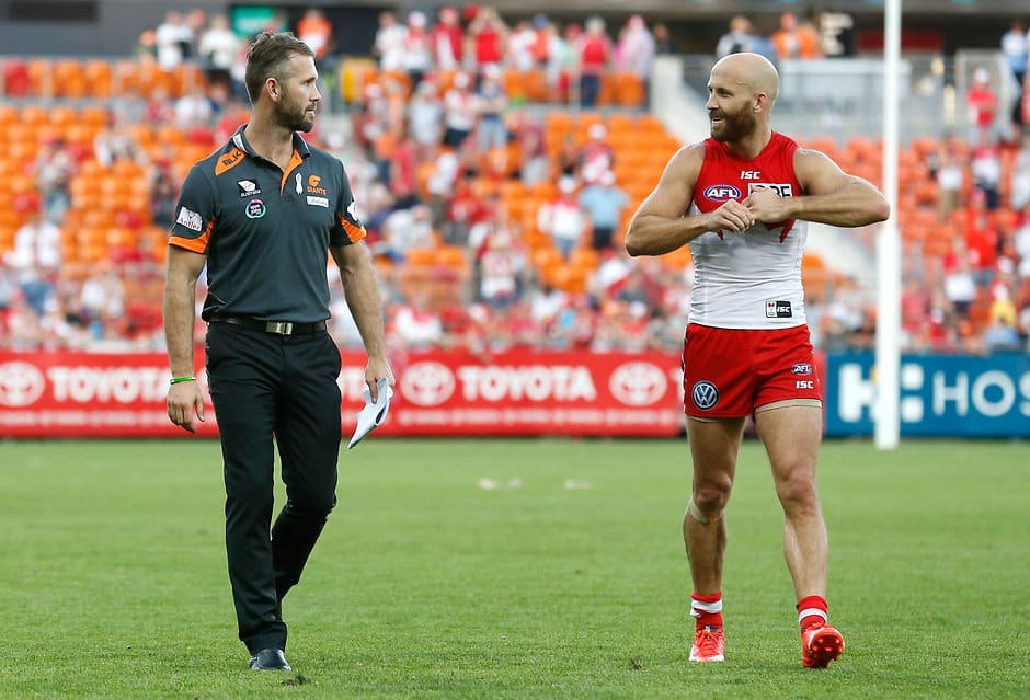 Mark McVeigh with his brother, Swans co-captain Jarrad - ${keywords}