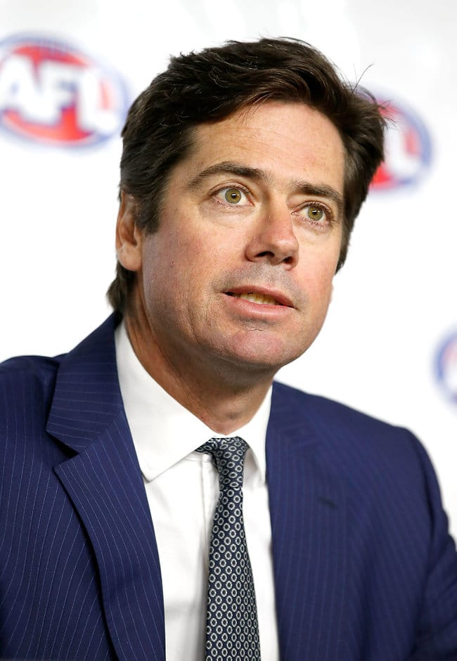 AFL CEO Gillon McLachlan says he doesn't blame the players for the anti-doping violations that resulted in two-year bans - ${keywords}