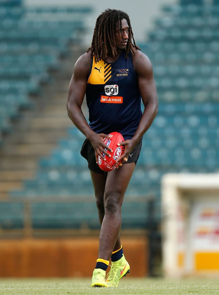 Nic Naitanui during Wednesday's training session - ${keywords}