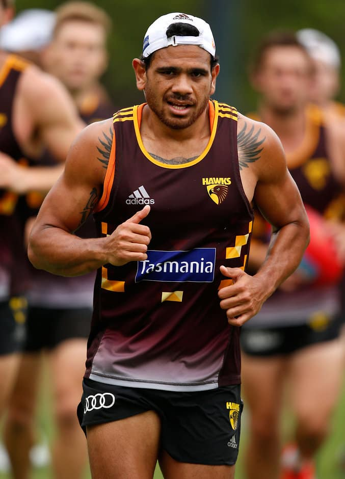 Cyril Rioli in action during the Hawks' pre-season. Picture: AFL Media - ${keywords}