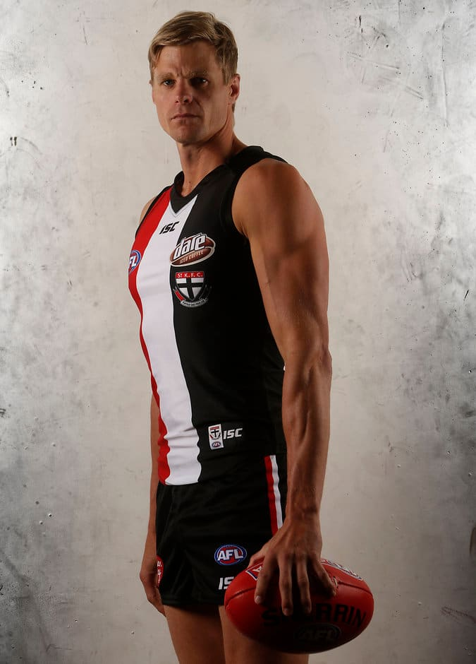 A svelte-looking Nick Riewoldt has returned from Texas five kilos lighter - ${keywords}