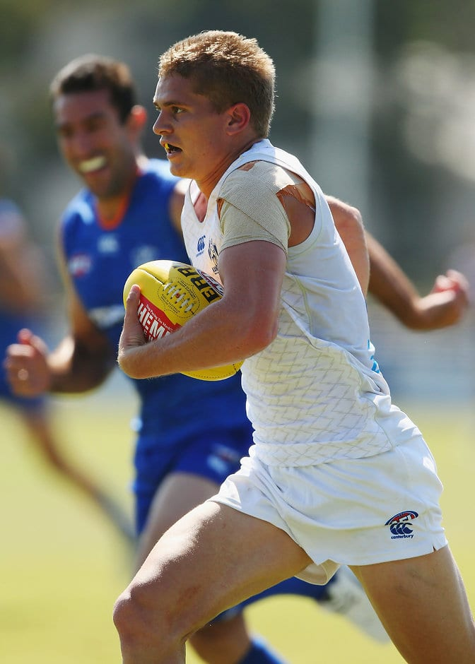Jed Anderson in action during a North Melbourne intraclub game - ${keywords}