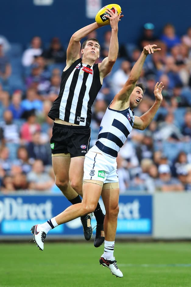 Mason Cox booted two goals against the Cats on Friday night - ${keywords}