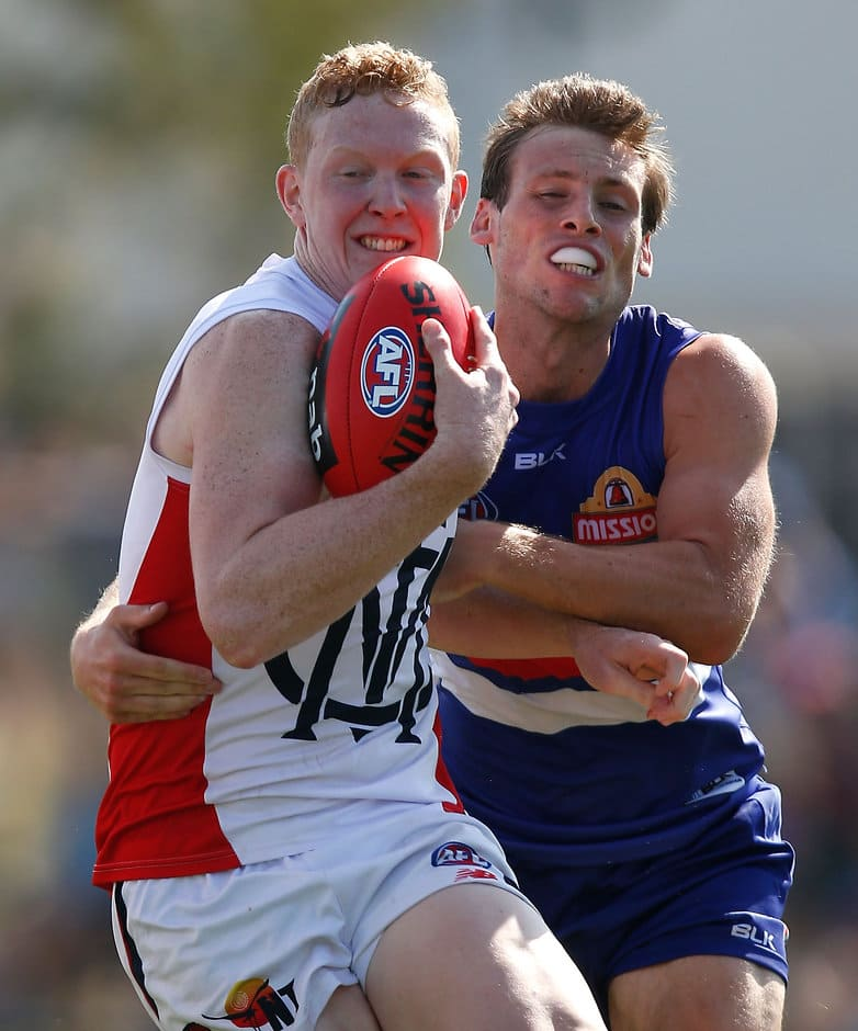 Clayton Oliver impressed for Melbourne during the NAB Challenge - ${keywords}