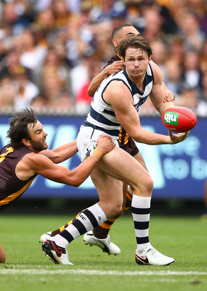 Patrick Dangerfield's 43-disposal game capped his seamless integration to his new side - ${keywords}