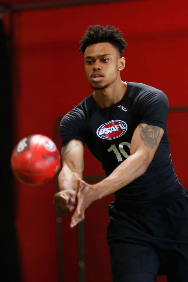 Shane Henry in action at the Combine - ${keywords}