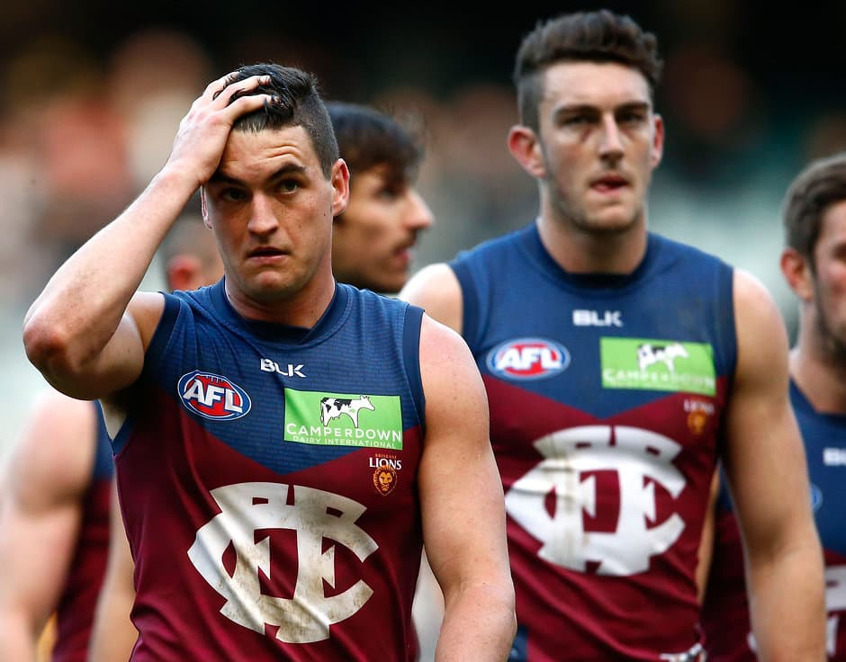 Tom Rockliff leaves the field after last week's loss to Richmond - ${keywords}