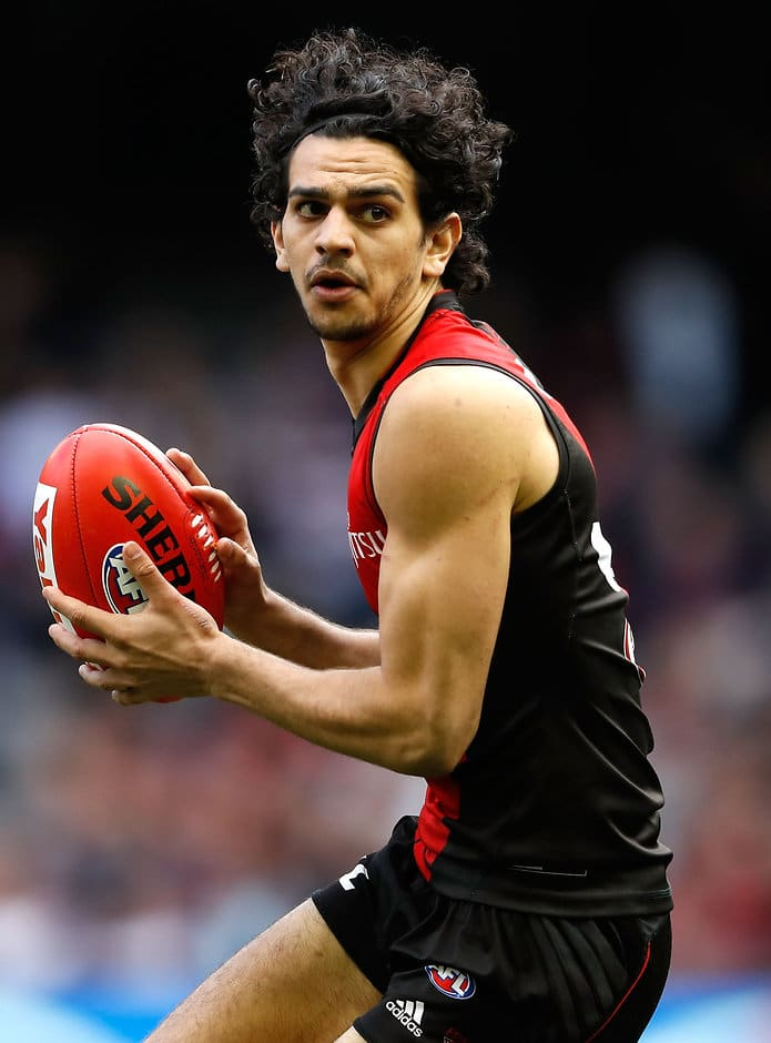 Jake Long during his debut match for the Bombers - ${keywords}