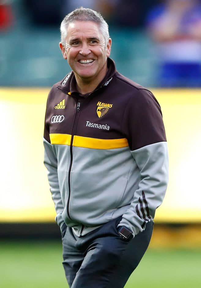 MELBOURNE, AUSTRALIA - SEPTEMBER 16: Chris Fagan, GM Football Operations of the Hawks looks on during the 2016 AFL Second Semi Final match between the Hawthorn Hawks and the Western Bulldogs at the Melbourne Cricket Ground on September 16, 2016 in Melbourne, Australia. (Photo by Adam Trafford/AFL Media)
