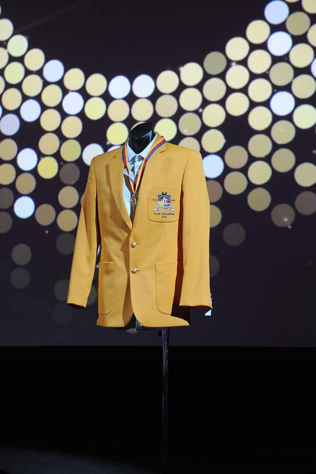 The coveted Gold Jacket to be presented to Adelaide's Club Champion - Adelaide Crows