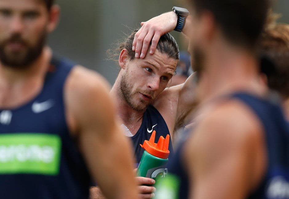 Bryce Gibbs back training with Carlton after his failed bid for a trade to Adelaide - ${keywords}