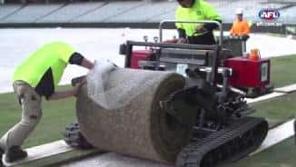 Turf time at new Perth Stadium