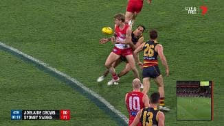 50m penalty costs Crows goal
