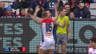 Rarely you see a falcon goal assist