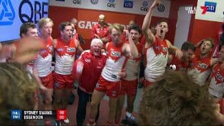 Swans go ballistic in the rooms