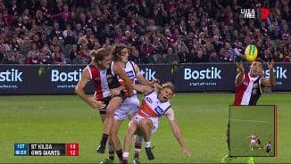 Giant defender goes down with knee injury