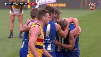 Cunnington's curler crushes Crows