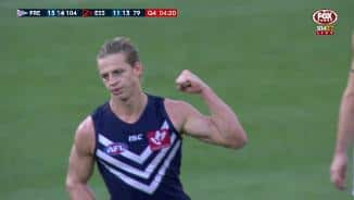 The sealer: Free-flowing Fyfe thumps home