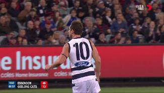Menzel's major wakes Geelong from cat nap