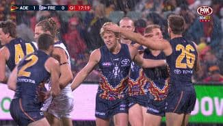 Sloane strikes first as heavens open up