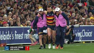 Knee injury ends Smith's game