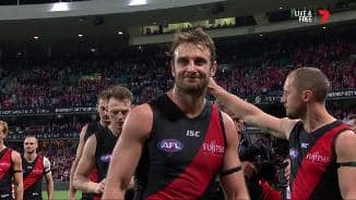 Jobe Watson and James Kelly say farewell