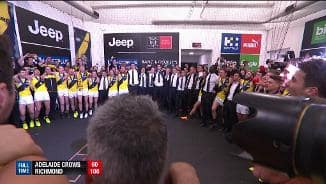 Watch the Tigers belt out the song