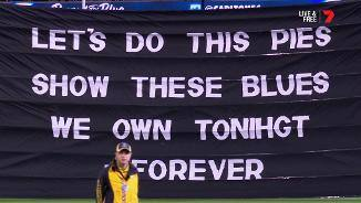 Magpies' banner clanger