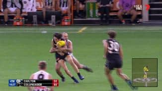 Star Pie's dangerous tackle leaves Blue dazed