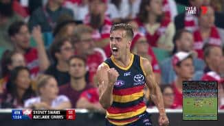 Crows kid kicks a cracker