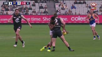Ambitious Rioli crunched in bad bump
