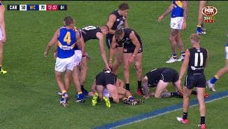 O'Shea dazed after high hit