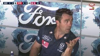 Scott looks baffled by goal review
