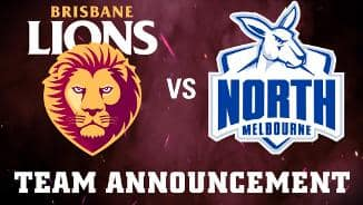 Team Announcement: Round 20