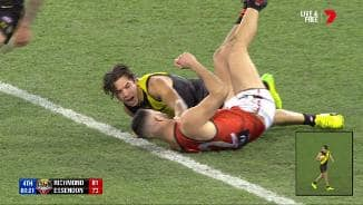 Rioli runs down the speedy Saad